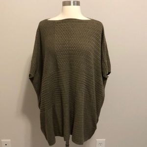 Ann Taylor LOFT Poncho One Size Green/Brown